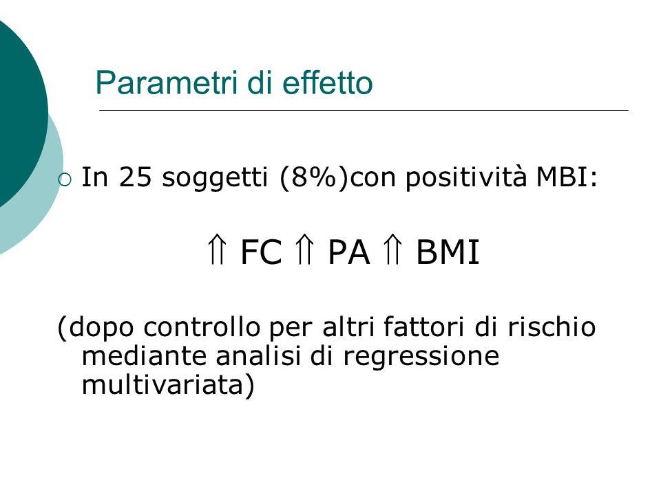  FC  PA  BMI Parametri di effetto