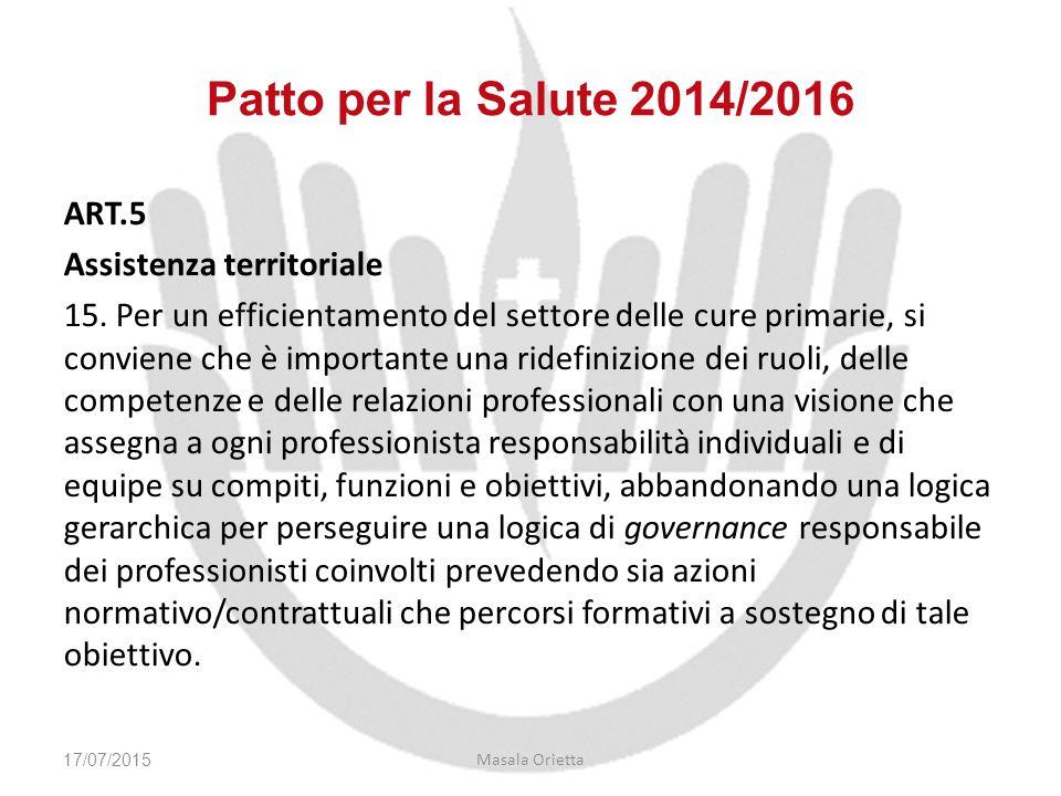 Patto per la Salute 2014/2016