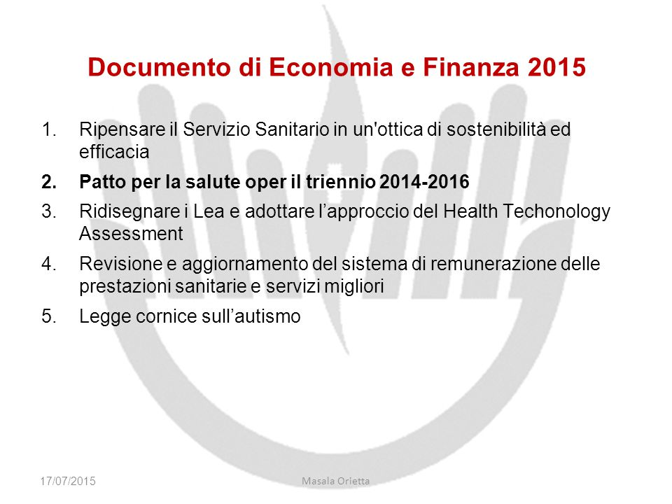 Documento di Economia e Finanza 2015