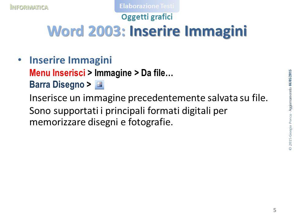 Word 2003: Inserire Immagini