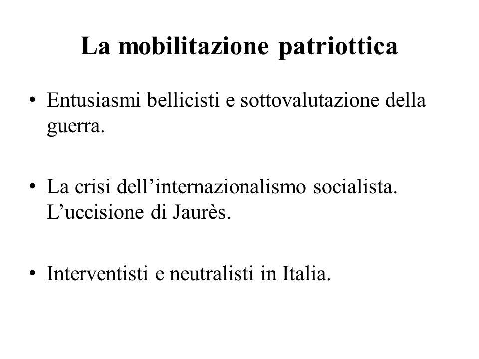 La mobilitazione patriottica