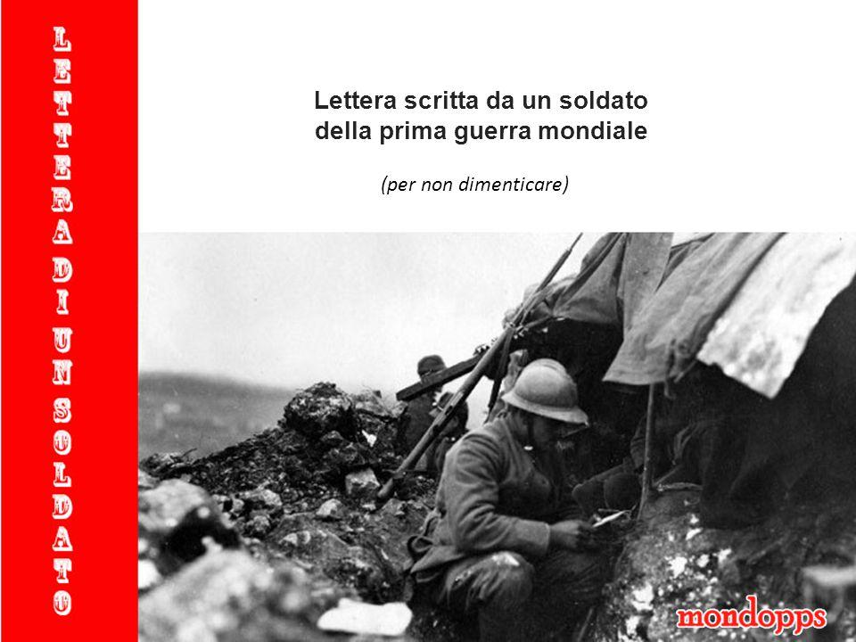 Lettera scritta da un soldato della prima guerra mondiale