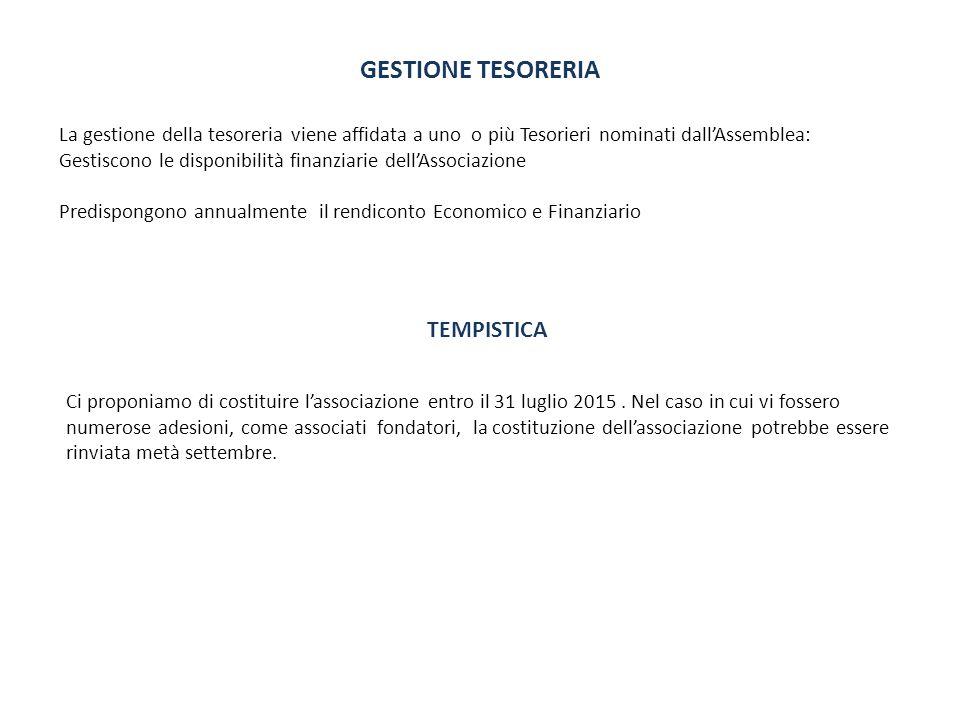 GESTIONE TESORERIA TEMPISTICA