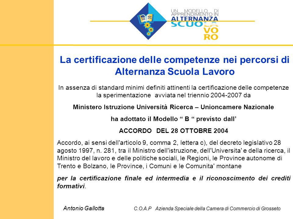 La certificazione delle competenze nei percorsi di Alternanza Scuola Lavoro