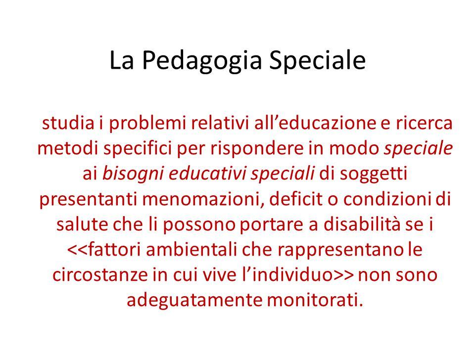 La Pedagogia Speciale
