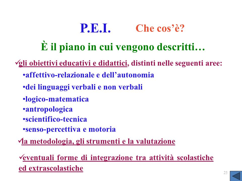 la metodologia, gli strumenti e la valutazione