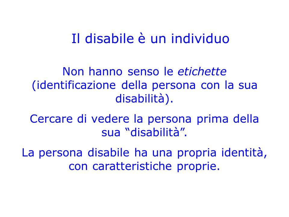 Il disabile è un individuo