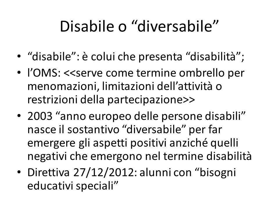 Disabile o diversabile