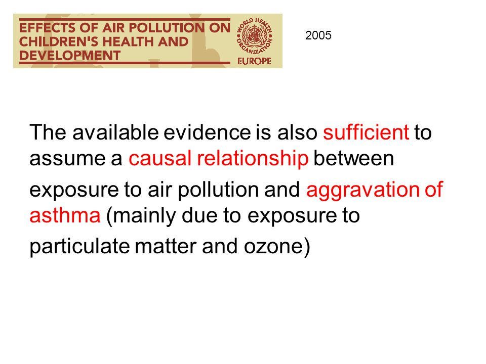 particulate matter and ozone)