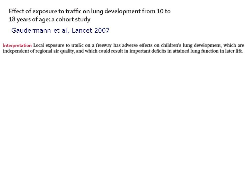 Gaudermann et al, Lancet 2007