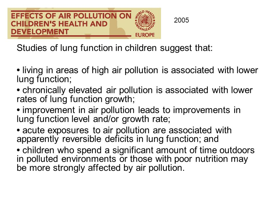 Studies of lung function in children suggest that: