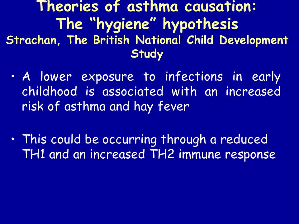 Theories of asthma causation: The hygiene hypothesis