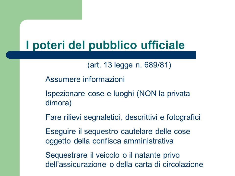 I poteri del pubblico ufficiale