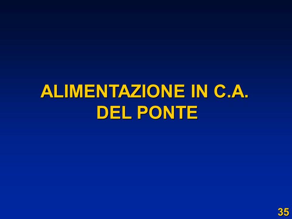 ALIMENTAZIONE IN C.A. DEL PONTE