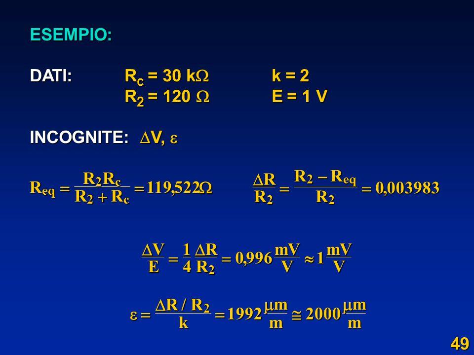 ESEMPIO: DATI: Rc = 30 k k = 2  R2 = 120  E = 1 V