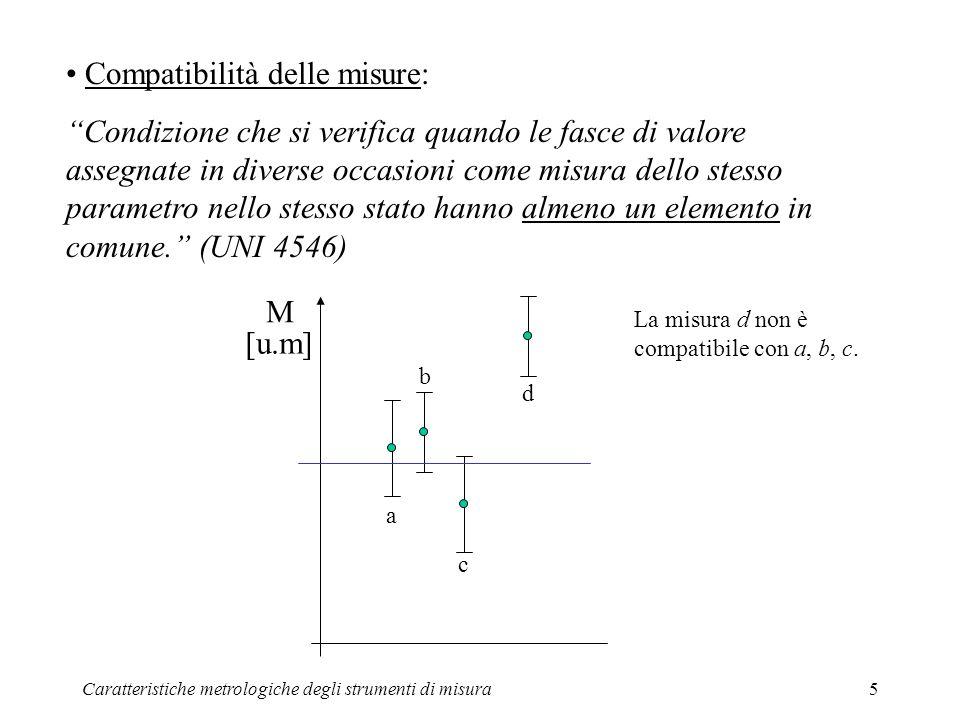 Compatibilità delle misure: