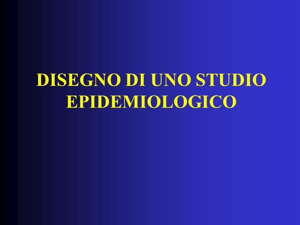 DISEGNO DI UNO STUDIO EPIDEMIOLOGICO