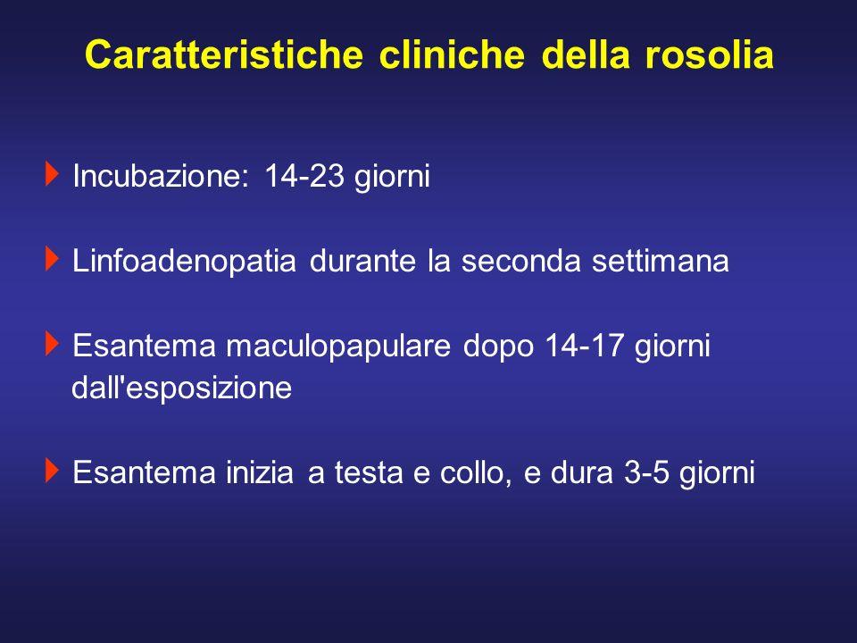 Caratteristiche cliniche della rosolia