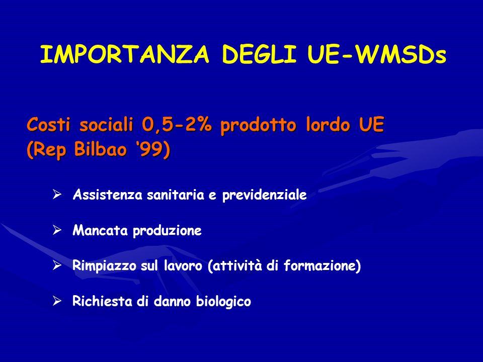 IMPORTANZA DEGLI UE-WMSDs