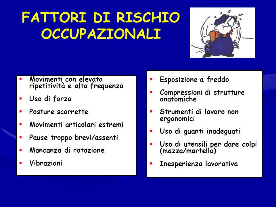 FATTORI DI RISCHIO OCCUPAZIONALI