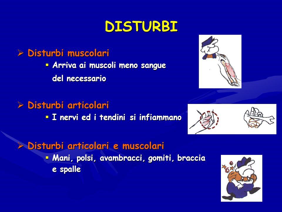 DISTURBI Disturbi muscolari Disturbi articolari