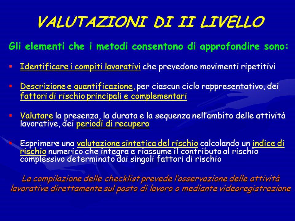 VALUTAZIONI DI II LIVELLO