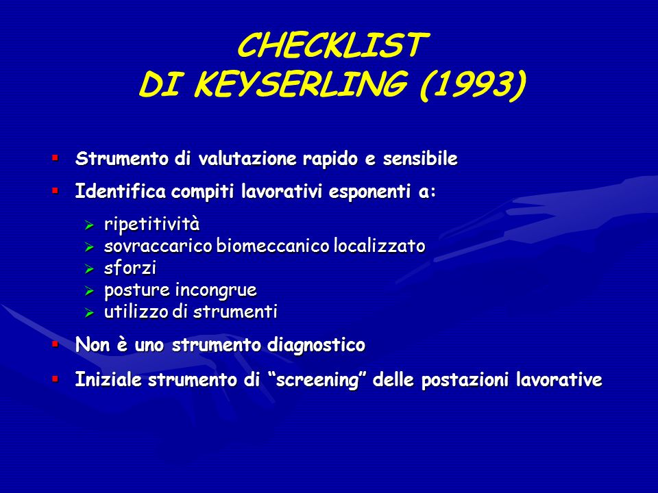 CHECKLIST DI KEYSERLING (1993)