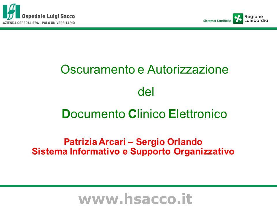 www.hsacco.it Oscuramento e Autorizzazione del