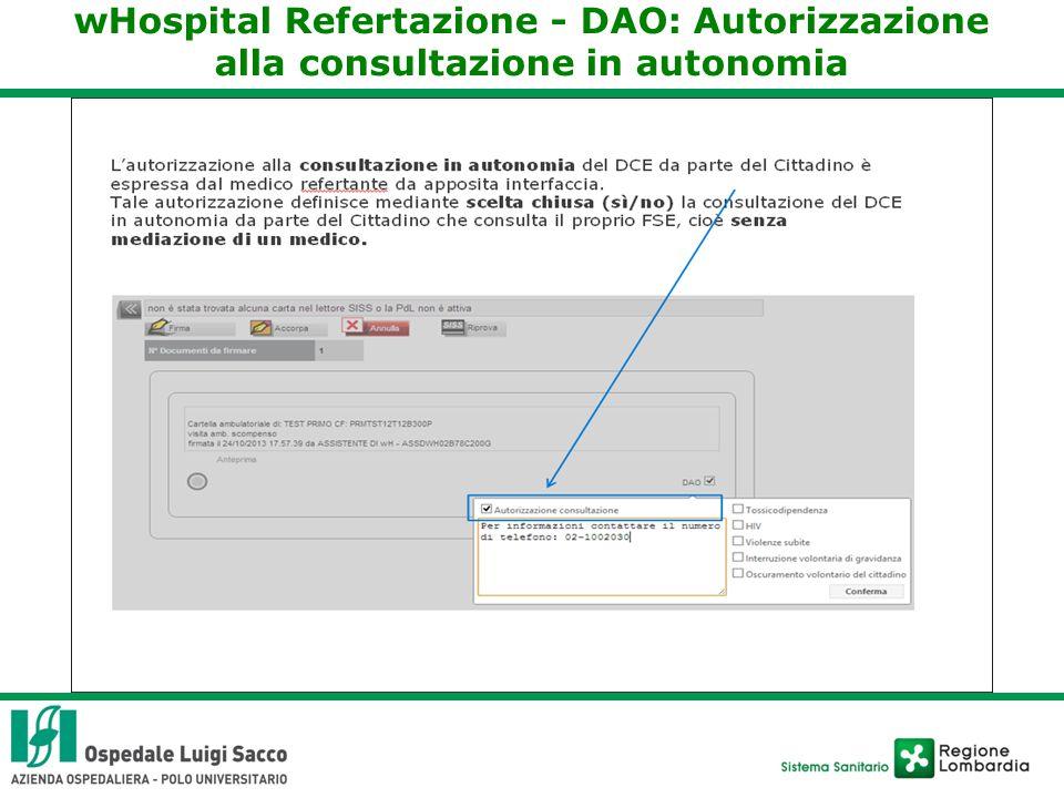 wHospital Refertazione - DAO: Autorizzazione