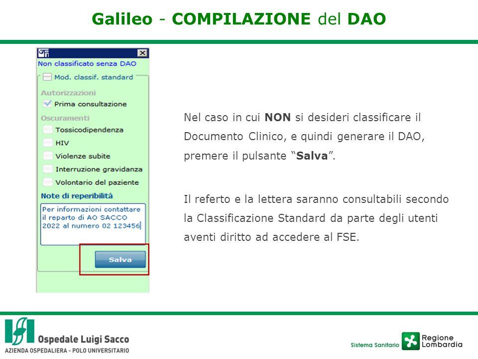 Galileo - COMPILAZIONE del DAO