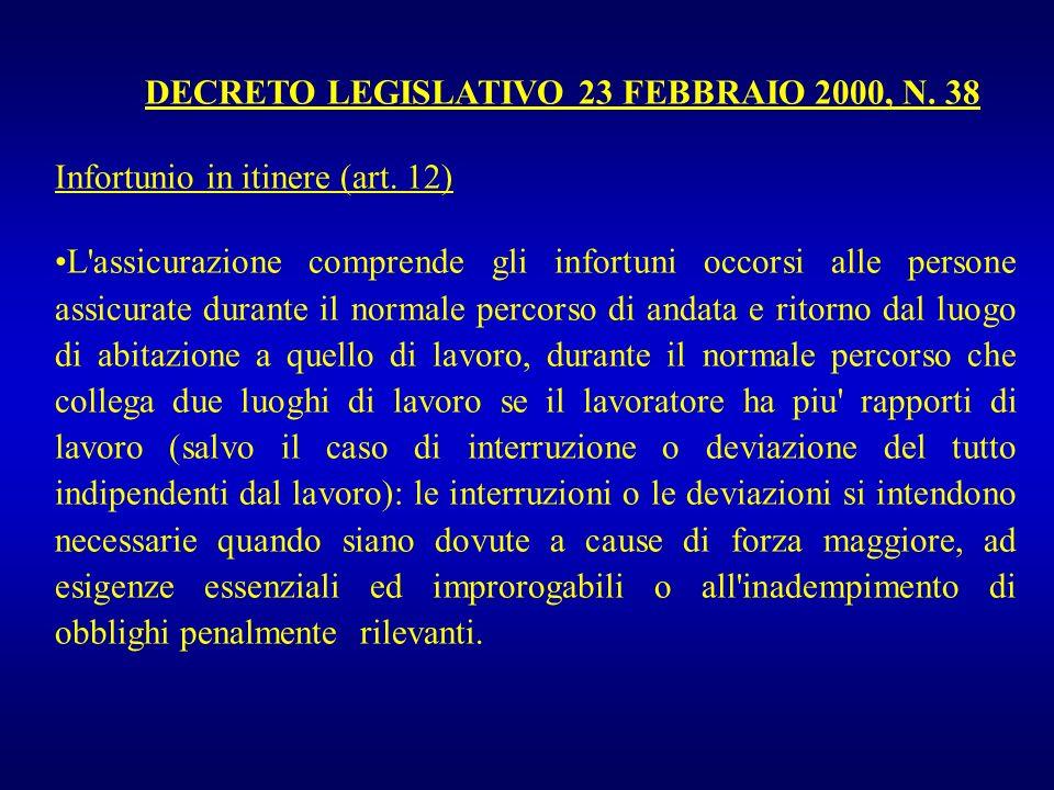 DECRETO LEGISLATIVO 23 FEBBRAIO 2000, N. 38