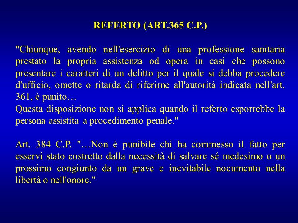 REFERTO (ART.365 C.P.)