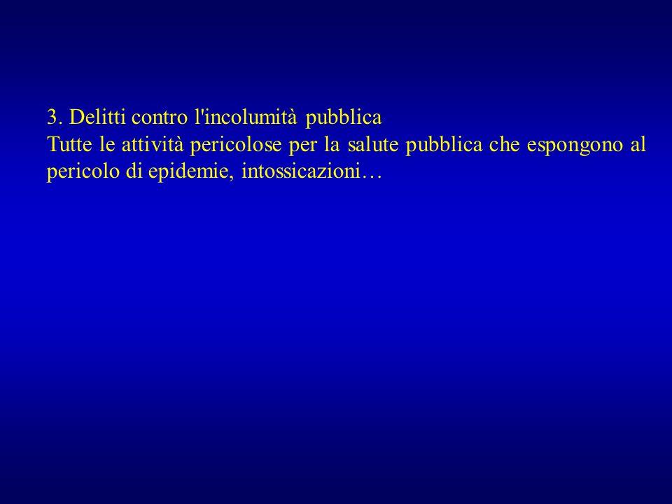 3. Delitti contro l incolumità pubblica