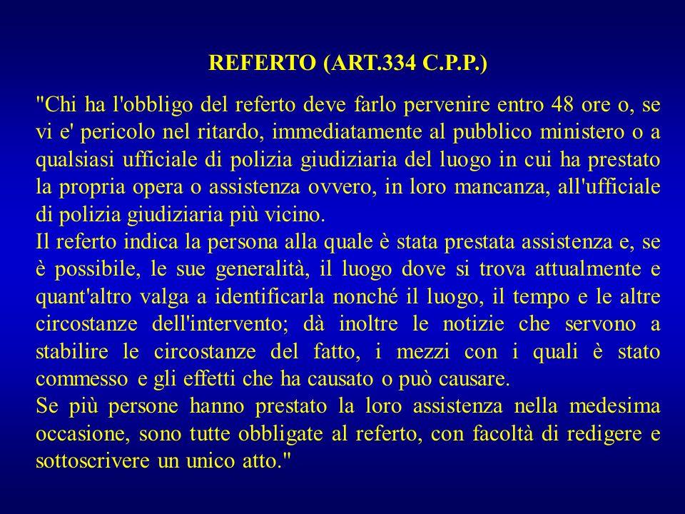 REFERTO (ART.334 C.P.P.)