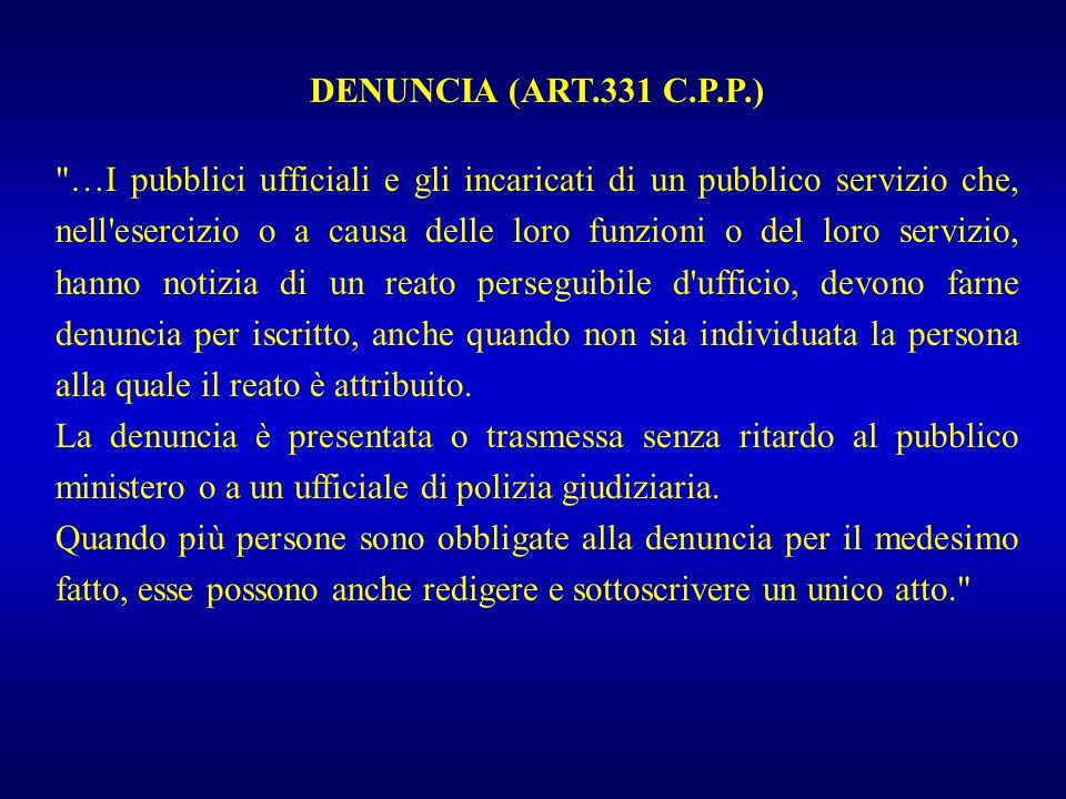 DENUNCIA (ART.331 C.P.P.)