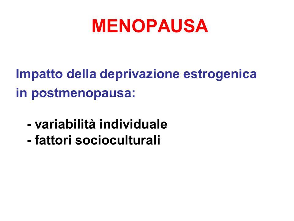 MENOPAUSA Impatto della deprivazione estrogenica