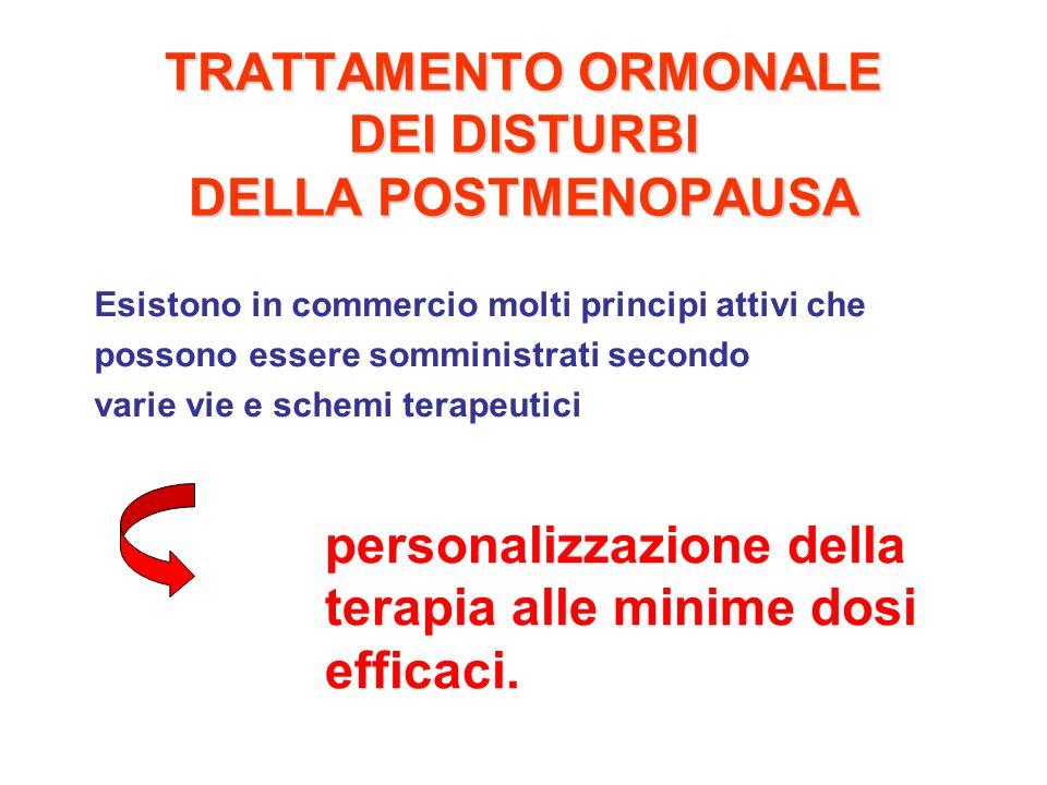 TRATTAMENTO ORMONALE DEI DISTURBI DELLA POSTMENOPAUSA