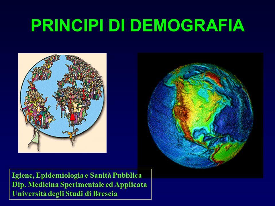 PRINCIPI DI DEMOGRAFIA