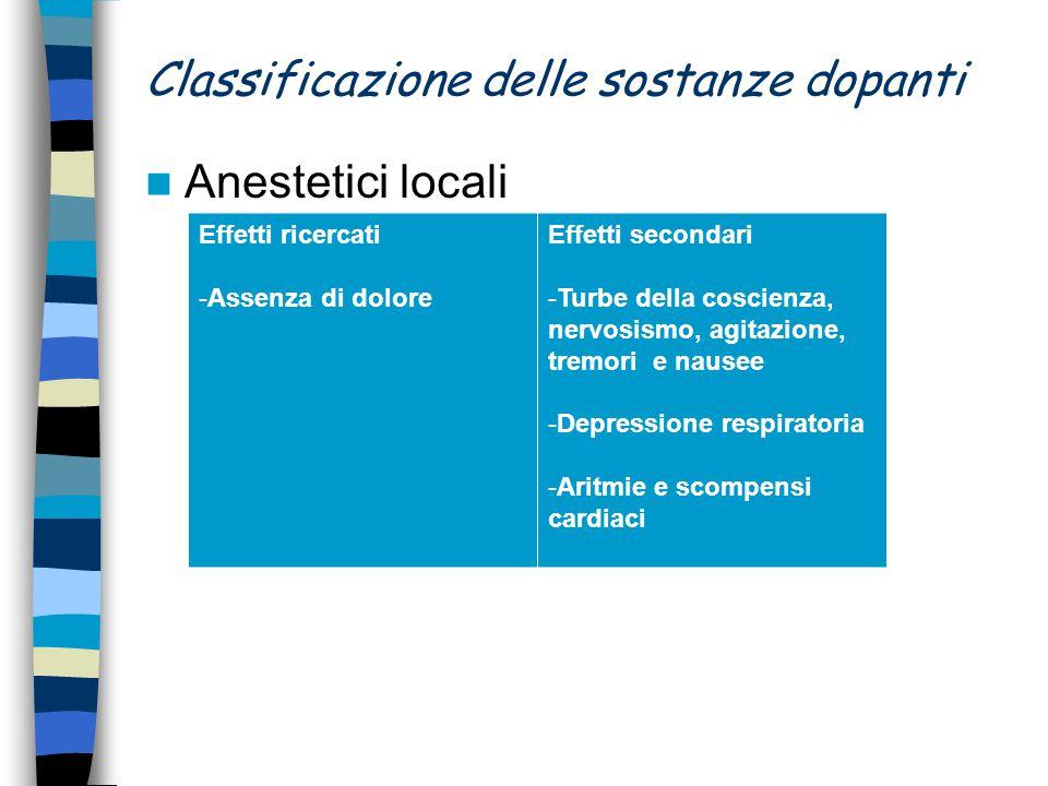Classificazione delle sostanze dopanti