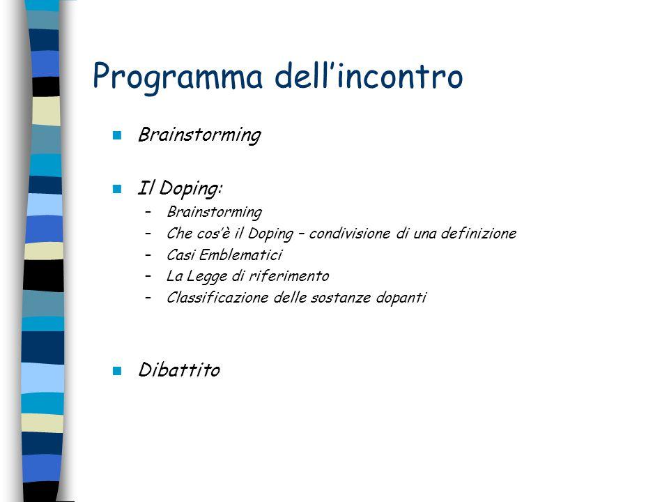 Programma dell'incontro