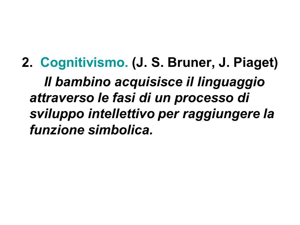 2. Cognitivismo. (J. S. Bruner, J. Piaget)