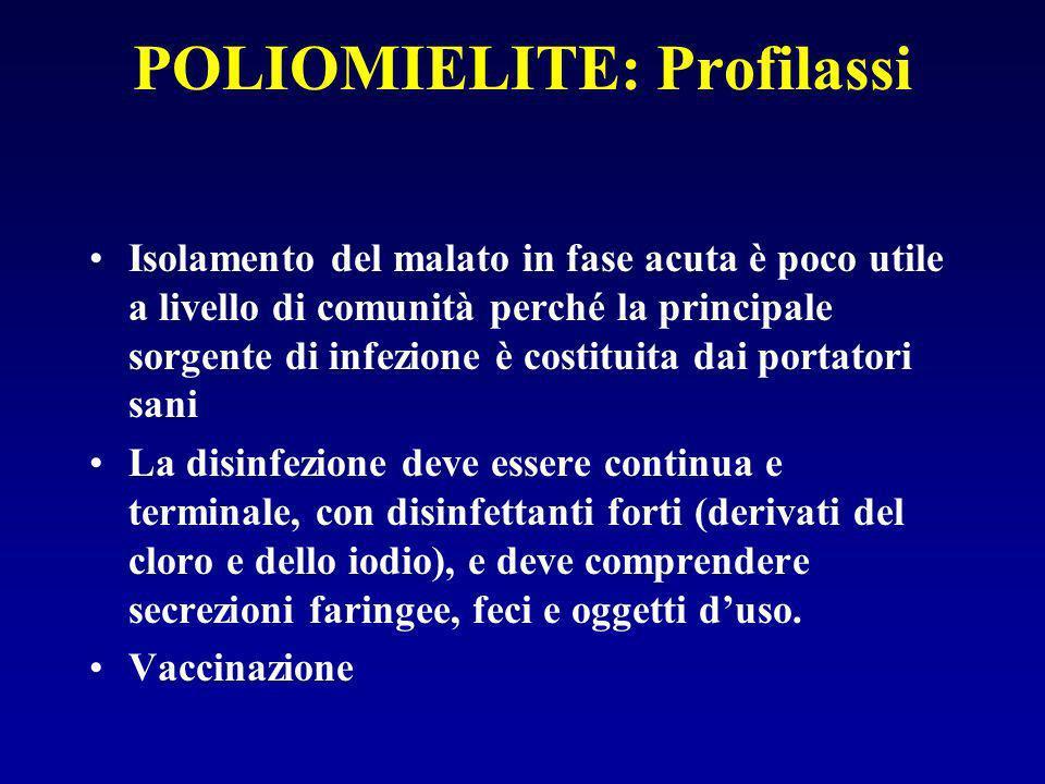 POLIOMIELITE: Profilassi