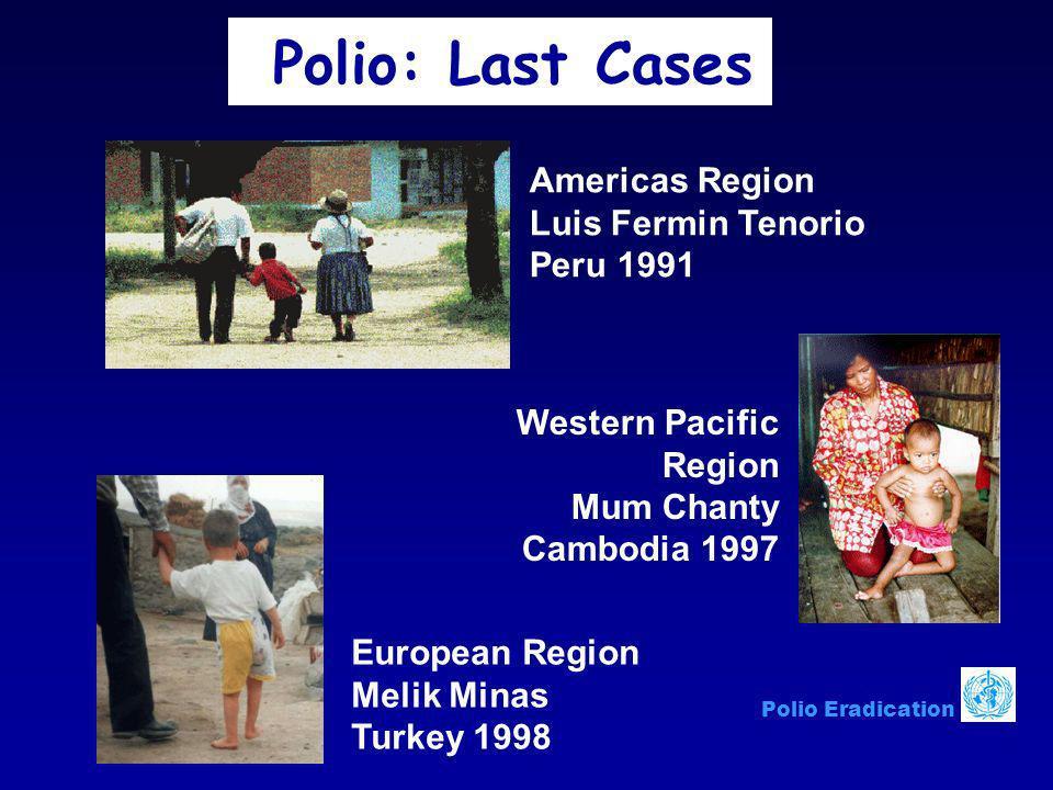 Polio: Last Cases Americas Region Luis Fermin Tenorio Peru 1991