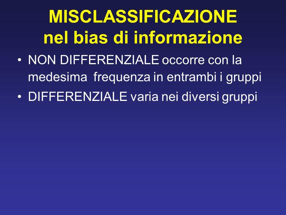 MISCLASSIFICAZIONE nel bias di informazione
