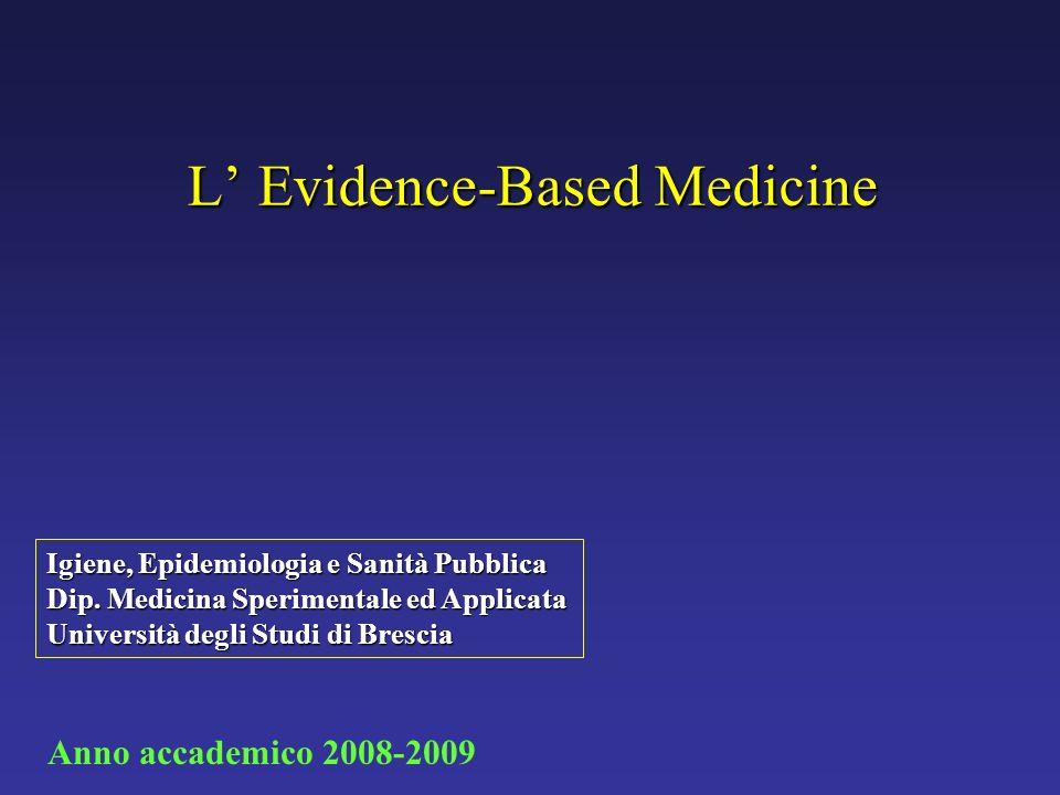 L' Evidence-Based Medicine