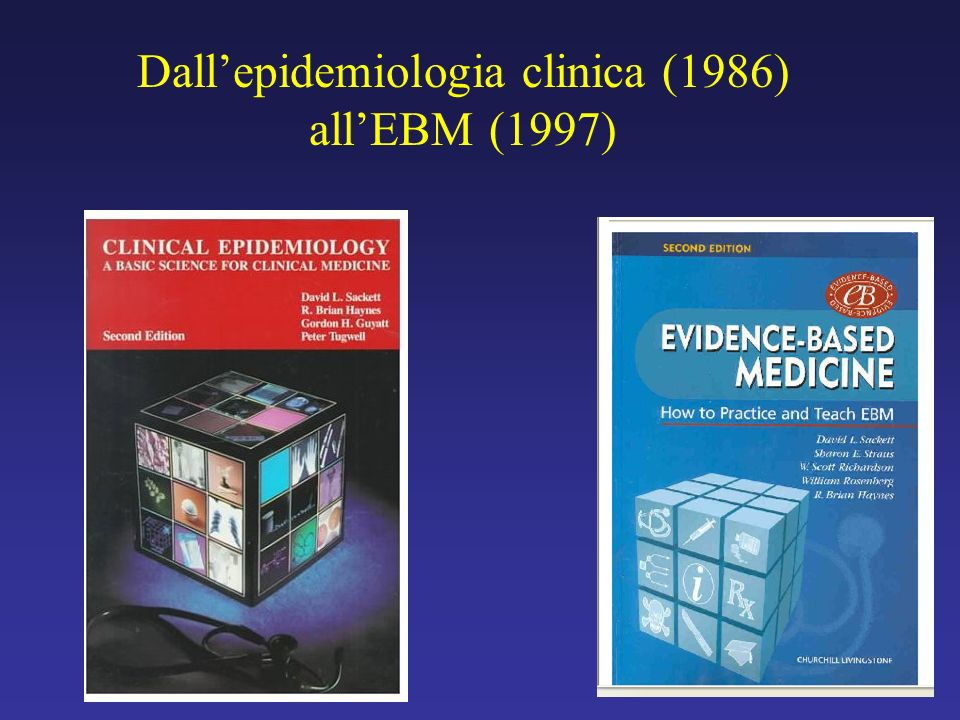 Dall'epidemiologia clinica (1986) all'EBM (1997)