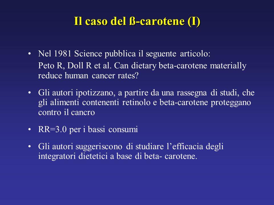 Il caso del ß-carotene (I)