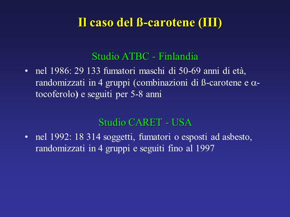 Il caso del ß-carotene (III)