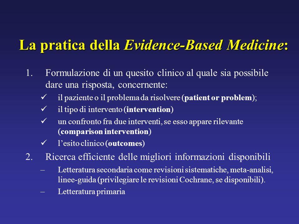 La pratica della Evidence-Based Medicine:
