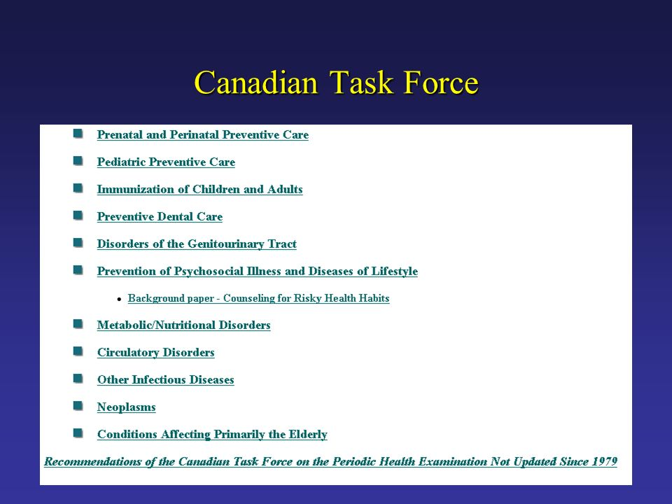 Canadian Task Force